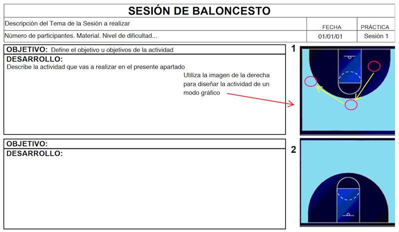 Descargar Ficha para Sesiones de Baloncesto