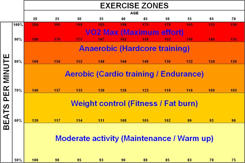 Zonas de Entrenamiento Cardiovascular