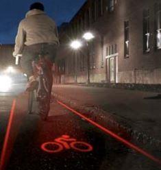 Carril Bici Láser: Bike Lane Safety Light