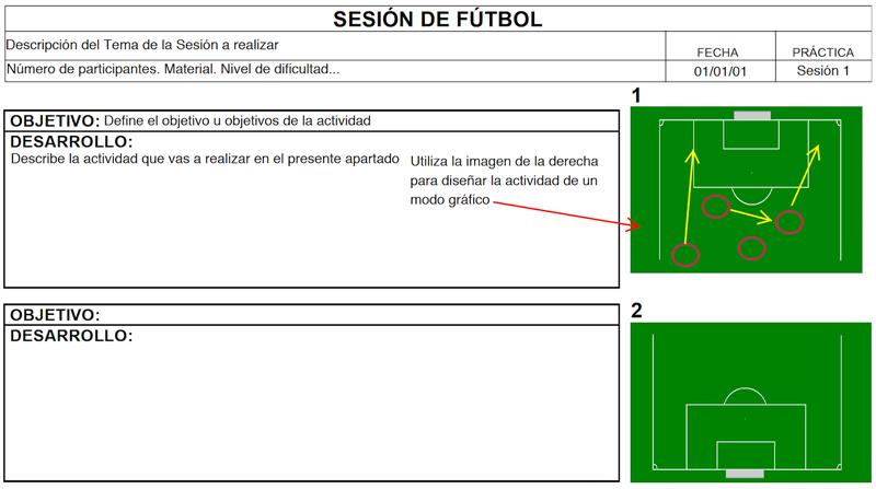 Ficha para Sesiones de Fútbol