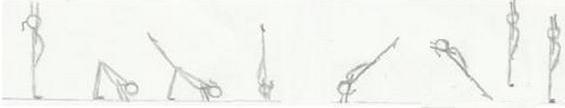 Paloma con dos piernas Gimnasia