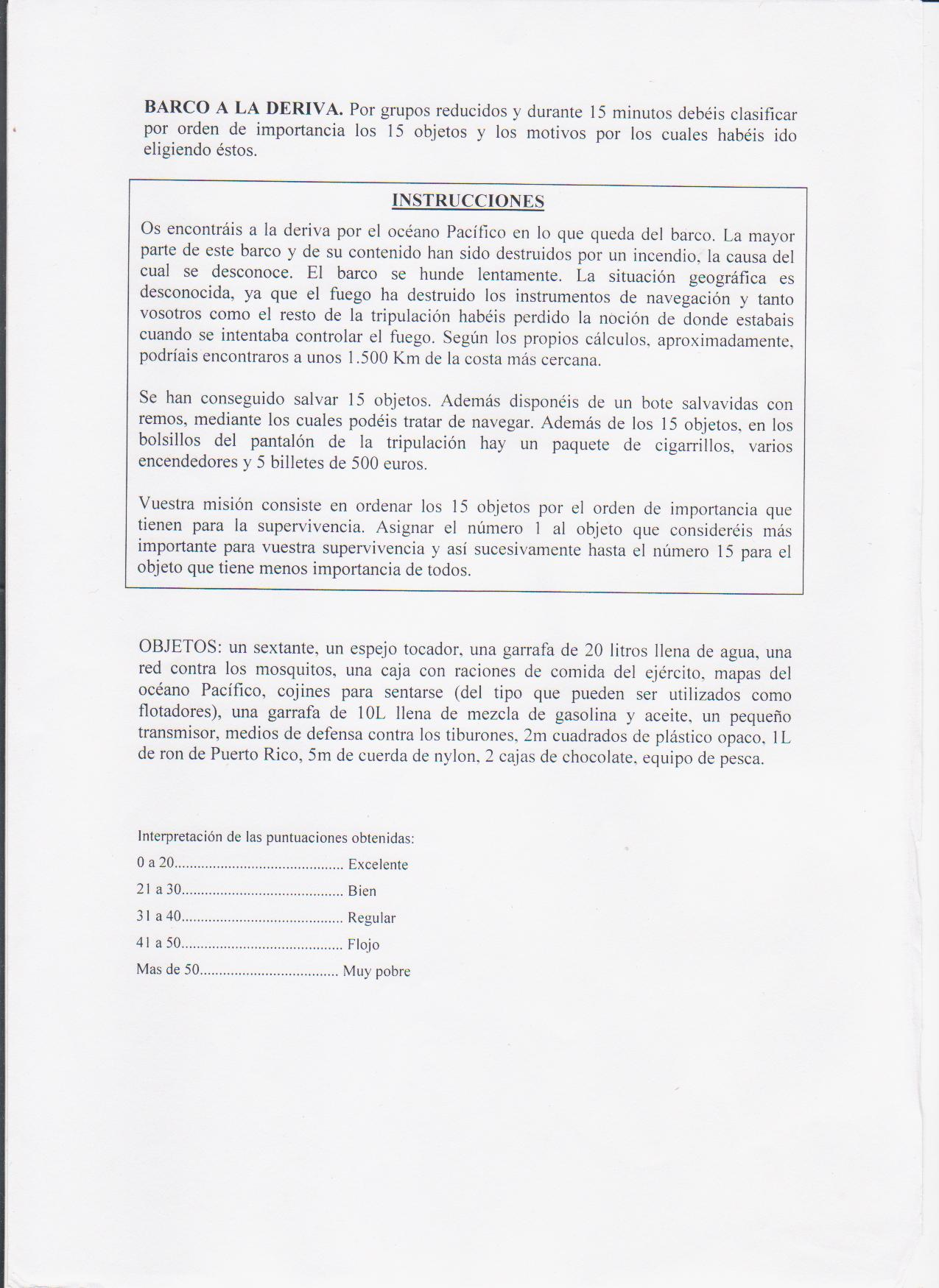 Dinamica Grupos Toma Decisiones Barco Deriva