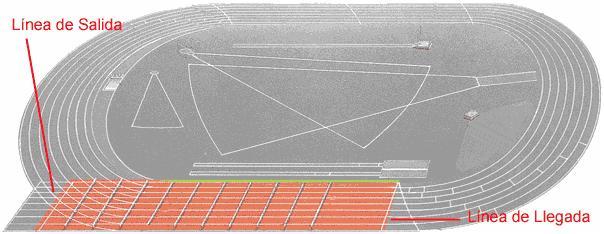 Atletismo 100 Metros Lisos Zona