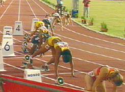 Atletismo Salida Tacos 200 Metros Lisos