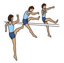 Atletismo Salto Altura Estilo Tijeras Tijeretas Fases