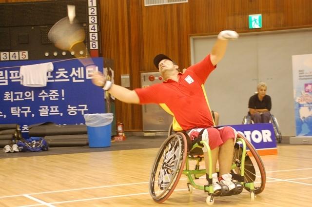 Sesiones discapacitados físicos bádminton