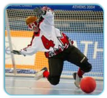 Sesiones discapacitados juegos y deportes goalball
