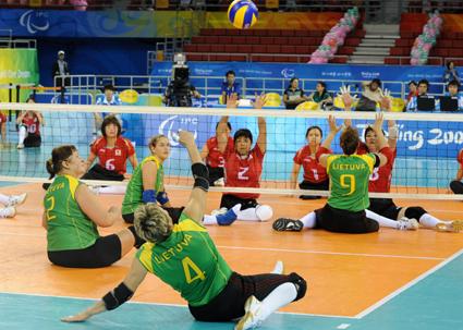 Sesiones discapacitados físicos voleibol