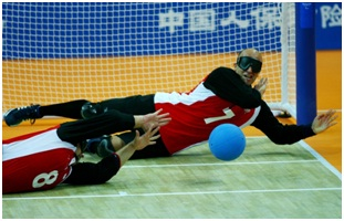 Goalball Deporte Discapacitados Visuales