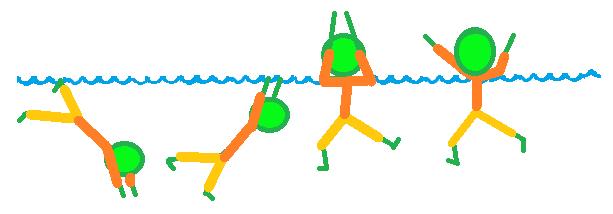 Socorrismo con ropa tocar fondo y aguantar con brazos fuera del agua