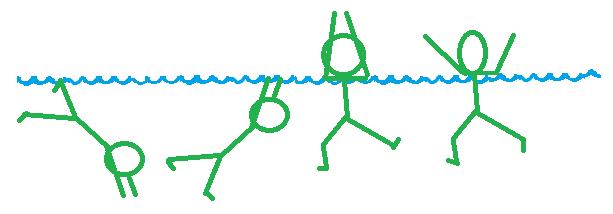 Socorrismo aguantar brazos fuera del agua