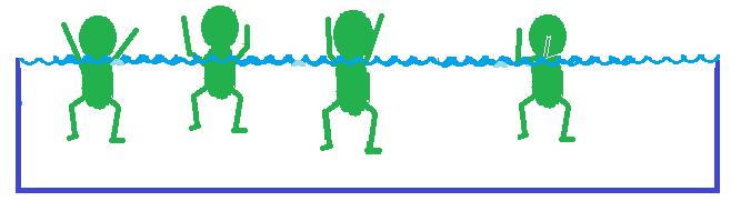 Socorrismo brazos fuera del agua