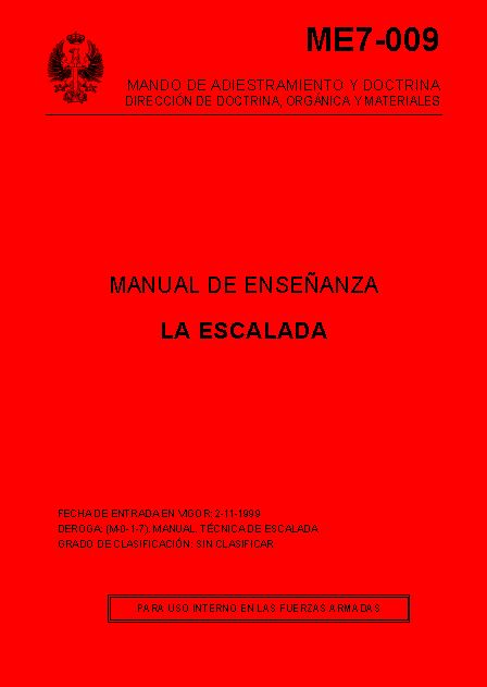 Manual de Enseñanza de la Escalada
