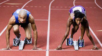 hombres y mujeres deporte olímpico