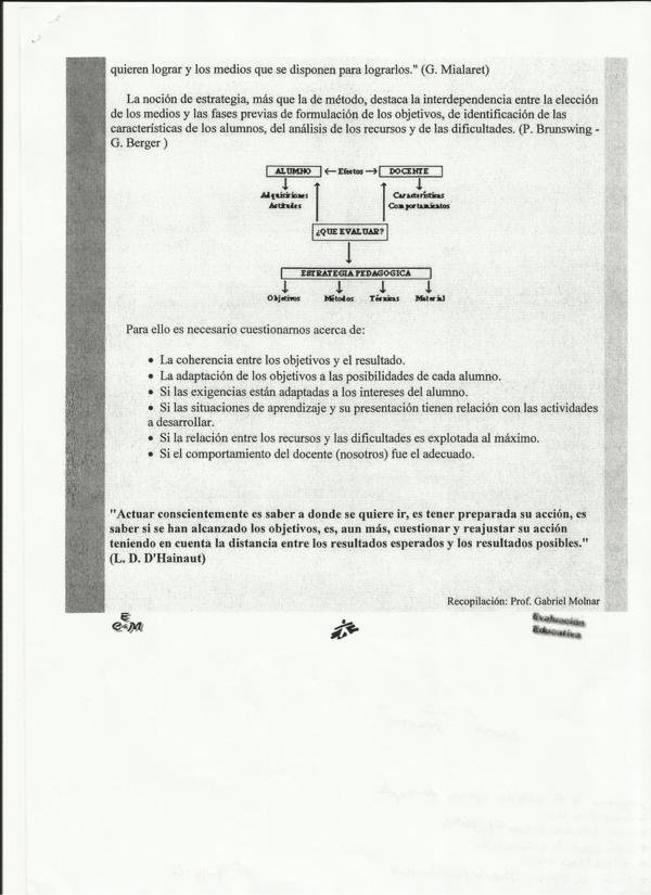 Evaluación educación física
