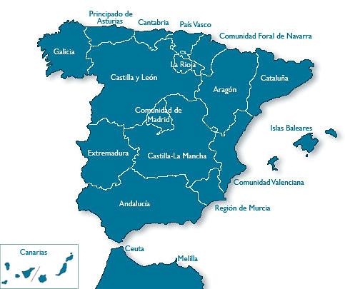Centros TAFAD en España
